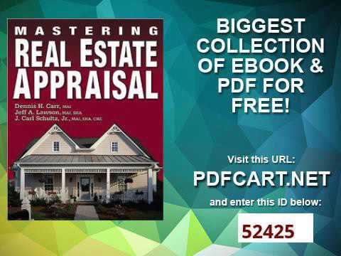 Real Estate Appraisal Pdf