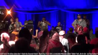 Keith Frank & The Soileau Zydeco Band - Virginia Key Grassroots Festival  2-21- 2014