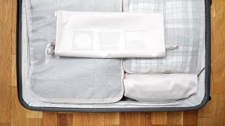 How to use packing cubes | Folding clothes | Minimalist closet| Packing hacks