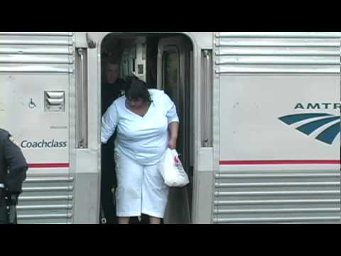 Thumbnail: Amtrak train stopped by police