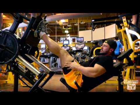 MUTANT in a MINUTE - Leg Press for hamstrings with Johnny Doull