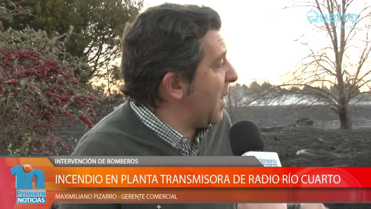 INCENDIO EN PLANTA TRANSMISORA DE RADIO RÍO CUARTO - YouTube