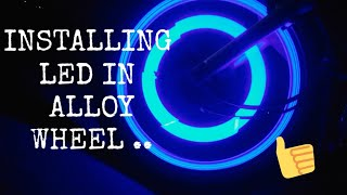 Light in alloy wheel || LED in alloy wheel || splender alloy wheel || modified