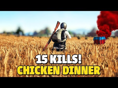 HOW TO GET 15 KILLS - CHICKEN DINNER - PUBG MOBILE