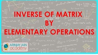 863.Inverse of Matrix by elementary operations