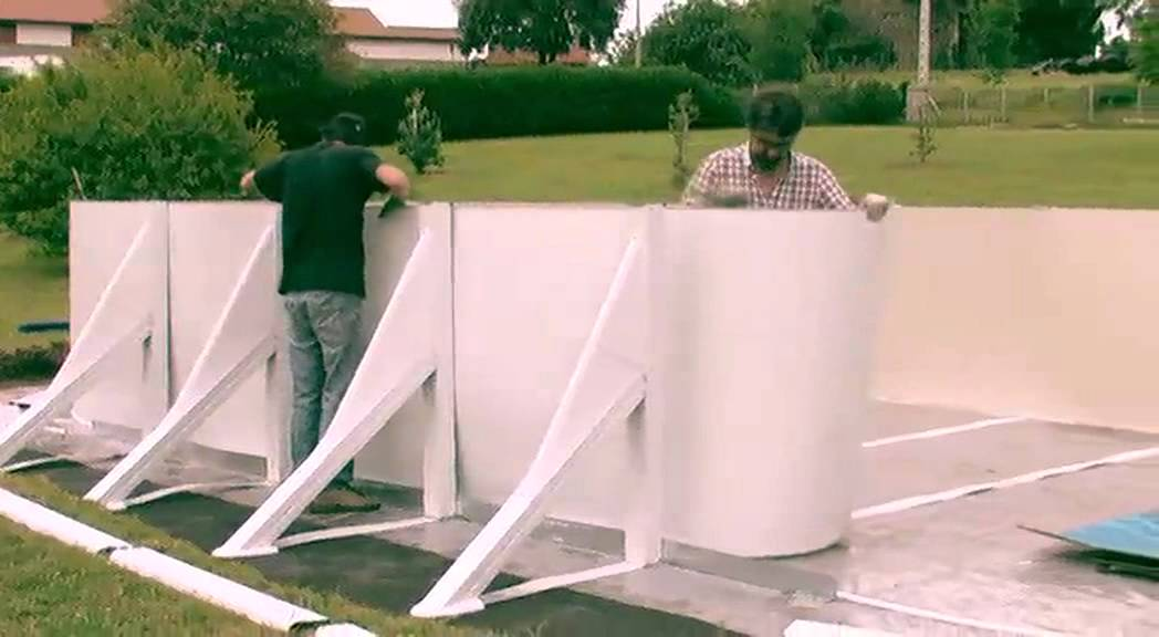 Video de montage piscine gre ovale avec jambes de force for Piscine hors sol gre ovale