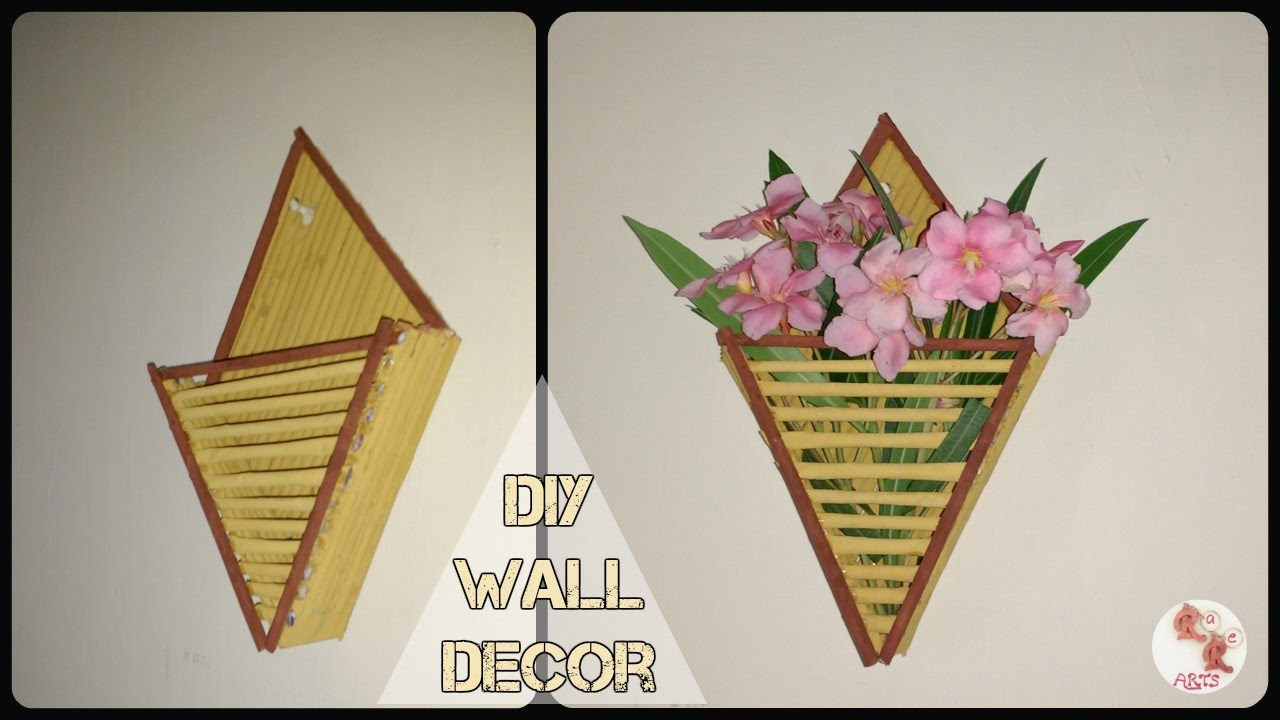 Diy newspaper wall decor best from waste wall decor for Wall hanging from waste