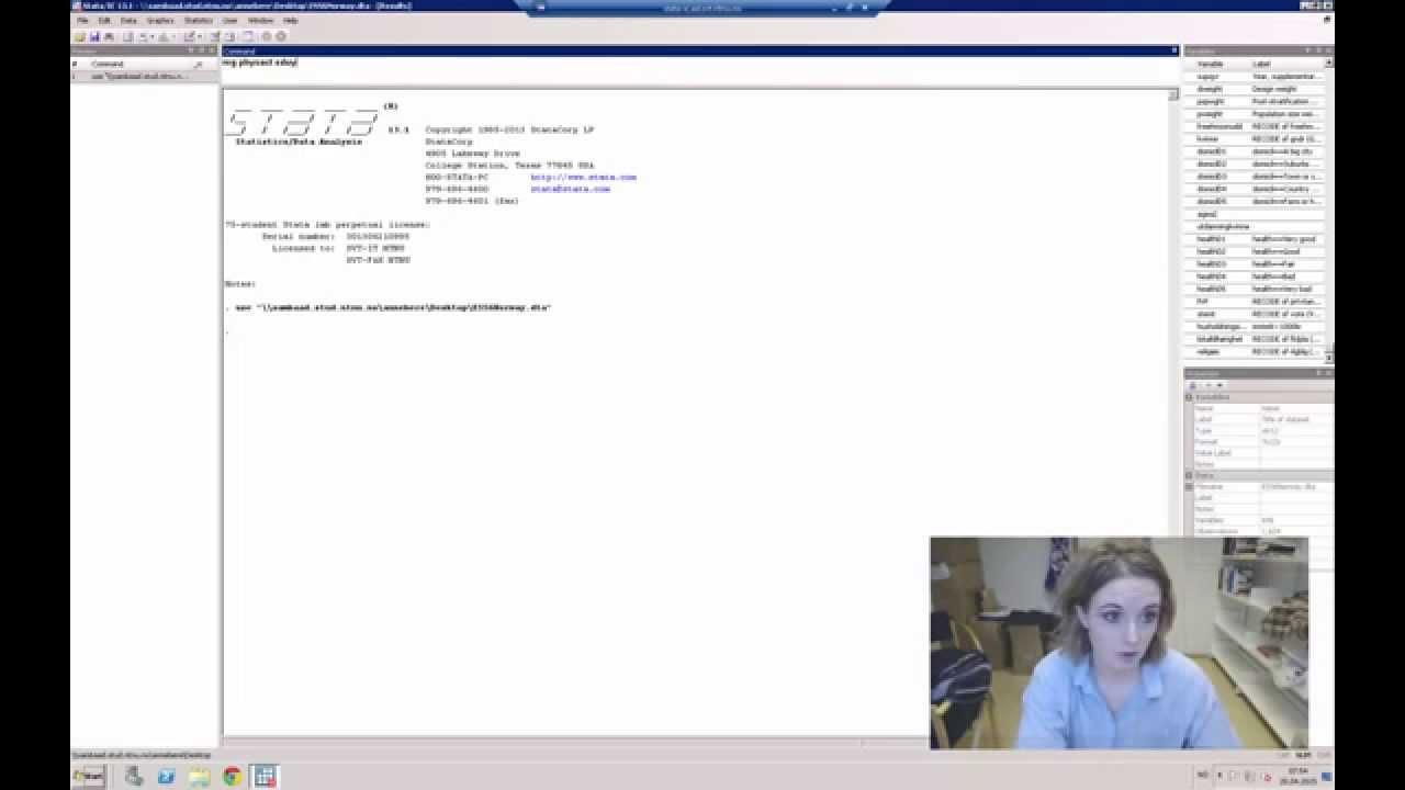 Del V: Video 5 - Multikollinearitet (estat vif)