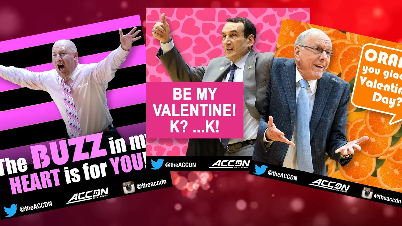 Share Special ACC Basketball Valentines Day Cards With Your – Basketball Valentine Cards