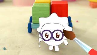 🗼Башня - Малышарики -🎨 Мультик раскраска🖌 - Учим цвета - обучающее видео для детей