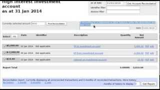 Reconciliation of Investment Bank Account in Free Accounting Software
