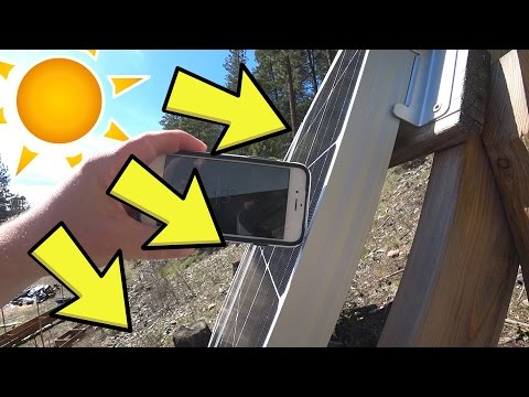 DIY Reclaimed TILTING SOLAR PANEL RACK + Setting panel angle for summer