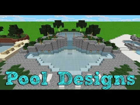 minecraft swimming pool designs 2 youtube