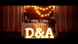 Светящиеся буквы на свадьбу от DimDomDecor