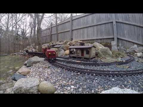 A G Scale Train Makes a Firewood Run