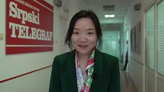Novinarka kineske državne televizije poslala poruku čitaocima Srpskog telegrafa i Republike