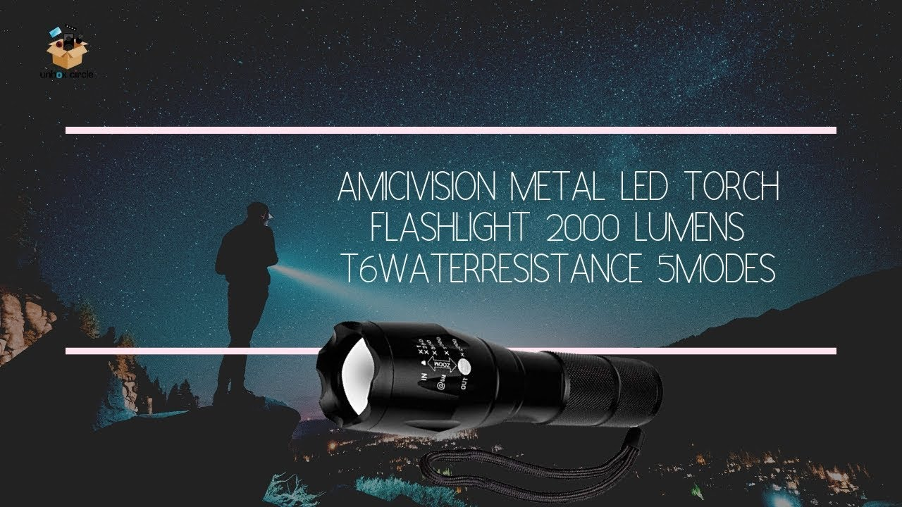 Small Sun Original 2000 Lumen Ultra Bright LED Tactical Flashlight Torch 5 Modes