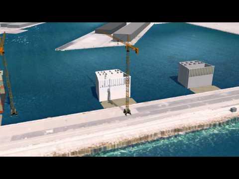 Préfabrication des caissons de l'extension en mer de Monaco