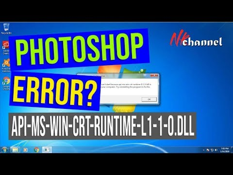 Adobe photoshop cc 2018 api-ms-win-crt-runtime-l1-1-0.dll, windows 7, just instal this file