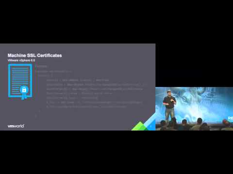 VMworld 2015: INF4529 - VMware Certificate Management for Me