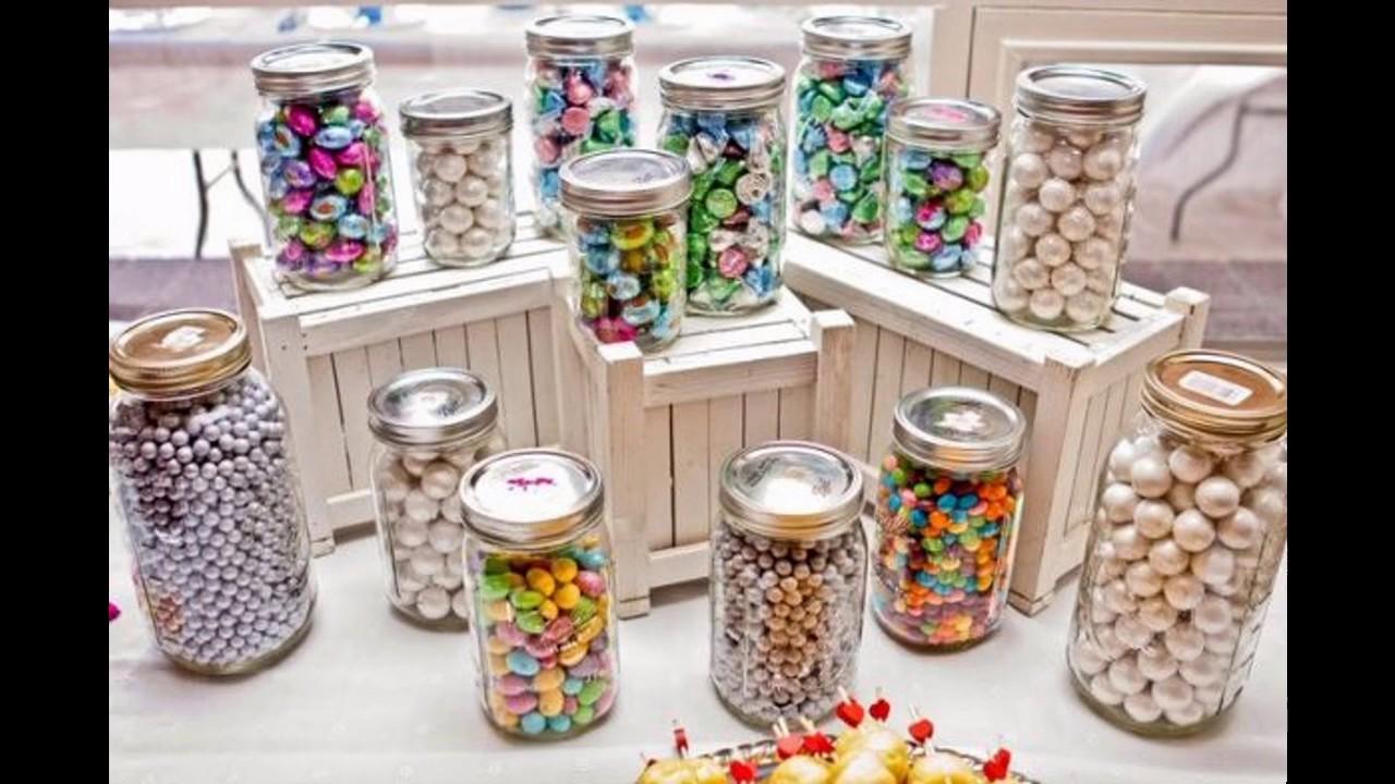 Candy bar ideas decoraci n de la boda youtube for Ideas decoracion bar