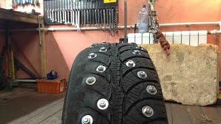 Изготовление шипованных шин.(, 2016-01-11T18:19:56.000Z)