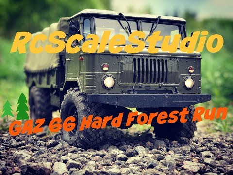 Rc scale studio model 4x4 1:10 Cross Rc GAZ 66 Forest Hard