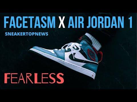 "FACETASM Expresses Their Idea Of Tokyo With The Air Jordan 1 Mid ""Fearless"" FACETASM X Air Jordan 1"