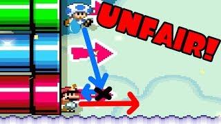 Super Mario Maker 2 Versus Multiplayer Unfair Map!