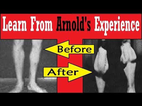 Arnold had Small Calves before Going to America!  Learn how to Correct Small Calves