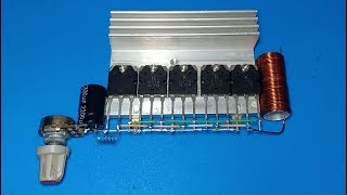 How to make 100W Amplifier using Transistor D718