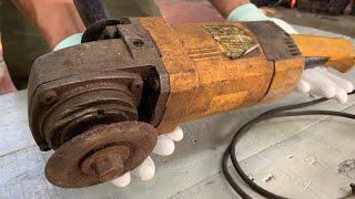 Restoration Old Rusty Big Cutter Machine 20 Years | Restore Dewalt Angle Grinder Electrical