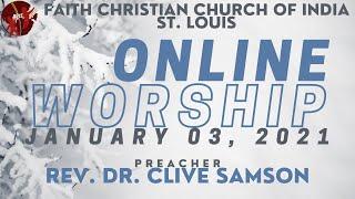 FCCIndia Live Worship 01/03/2020 | FCCI St. Louis