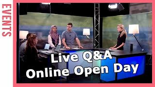 Live Q\u0026A Online Open Day - Wageningen University \u0026 Research