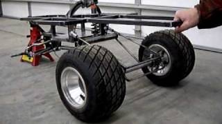 Home Made Giant Scale Rc Car #3 Scratch Built Car, Rear Suspension Test.