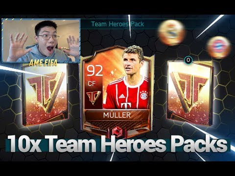 FIFA Mobile 18 S2 Team Heroes Live Event + Pack Opening! 92 TH Muller!