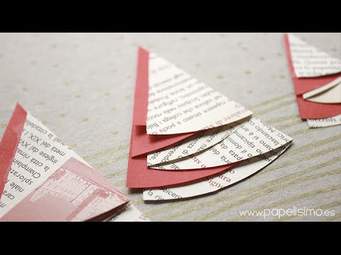Tarjetas de navidad hechas a mano originales con rboles - Targetas de navidad originales ...