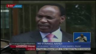 Weekend Prime: Ezekiel Mutua blacklists some of singers for their names in music