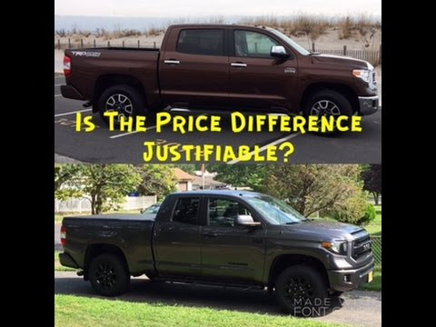 Toyota Tundra TRD Pro Vs 1794 TRD: Is The Price Difference Justifiable?
