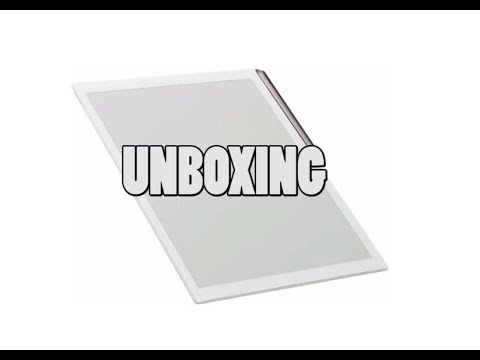 Sony Digital Paper DPT-RP1 White Unboxing