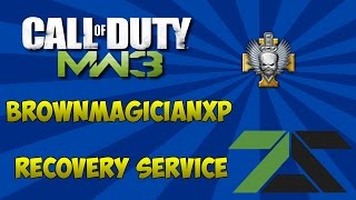 mw3 brownmagicianxp recovery service any prestige xp all challenges god mode classes