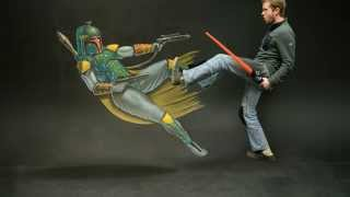 Epic Star Wars 3D Chalk Art! - AWE Me Artist Series