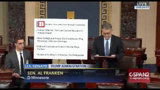 Al Franken SLAMS Steve Bannon and Breitbart News On Senate Floor 11/17/16