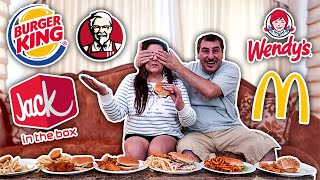 GUESS THE FAST FOOD BURGER AND FRIES CHALLENGE!*$10,000*