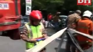 Kelindan lori maut nahas di Shah Alam