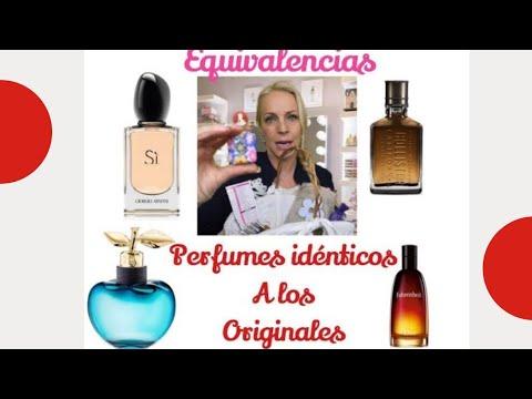 Perfumes Idénticos A Los Originales Equivalencias Youtube