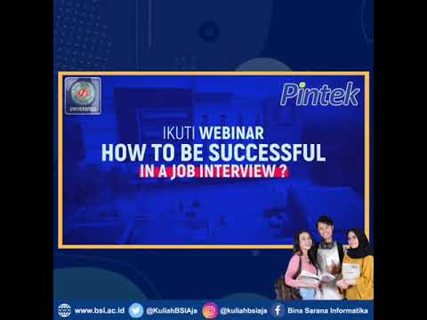 WEBINAR HOW TO BE SUCCESSFUL IN A JOB INTERVIEW