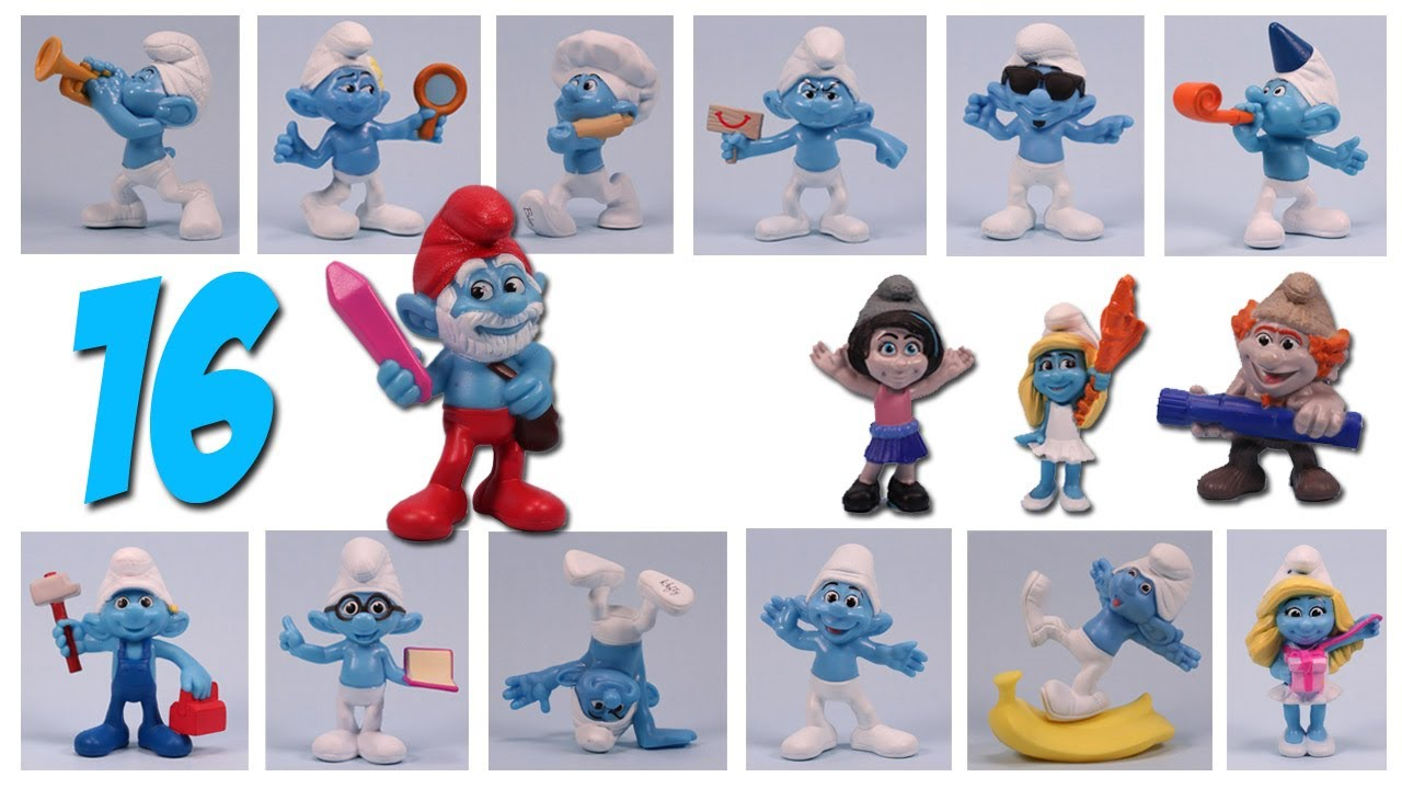 The Smurfs 2 Mcdonalds Happy Meal Toys Complete Set 2013 Review Youtube