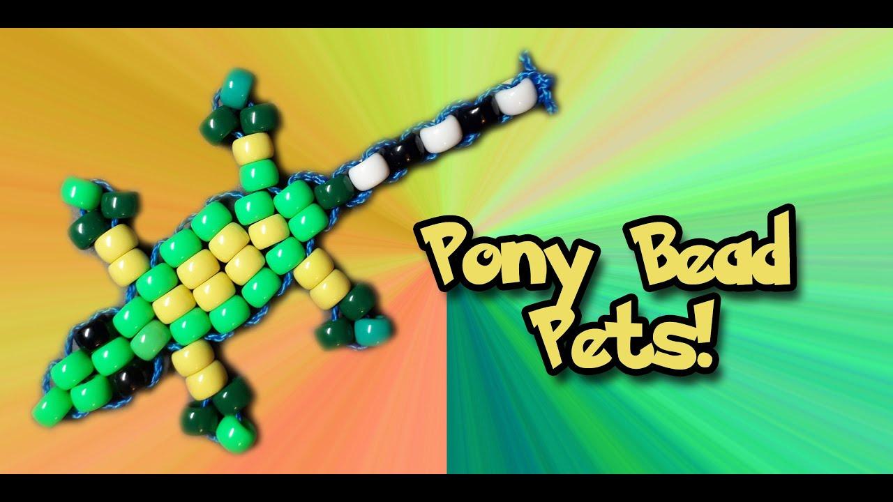 how to make a pony bead gecko