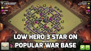 Clash of Clans - 3 STAR POPULAR PCB WAR BASE (claimed to be the BEST) with LOW HEROES